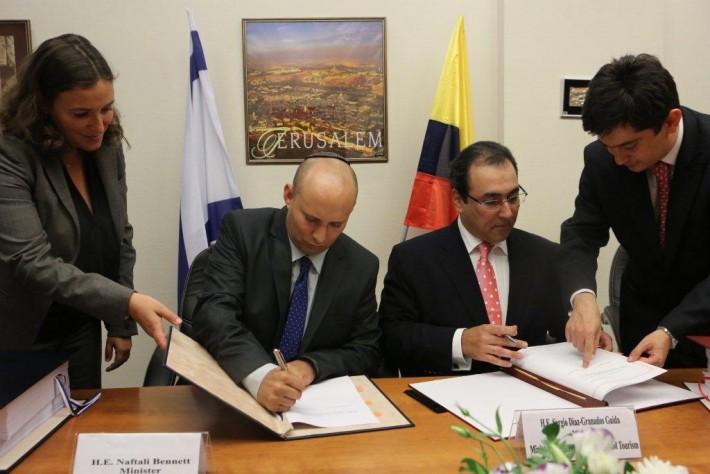 Израиль и Колумбия подписали договор о свободной торговле