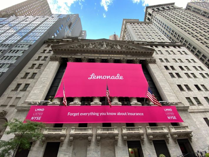 Израильский стартап Lemonade вышел на IPO по оценке $1,6 млрд